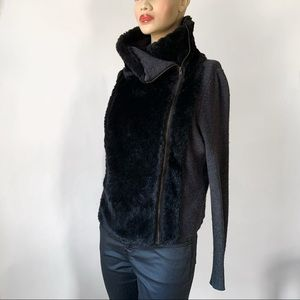 Loft Faux Fur Cardigan Jacket